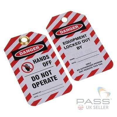 Lockout Tagout Tags - 'Hands Off - Do Not Operate' - Pack of 10