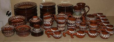 ++ 1960's Vintage Moroccan Dishes -Plates -Pitchers- 95 Pieces - Hand Painted