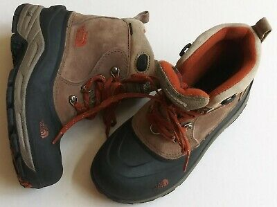 abbe44aca THE NORTH FACE 200g Waterproof Brown Leather Moc Toe Hiking Boots ...