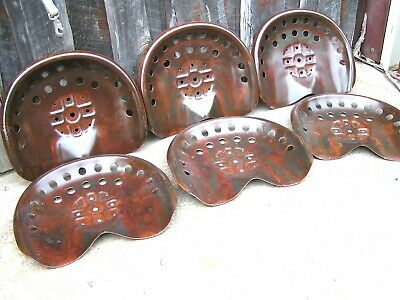 SIX Steel tractor Farm machinery metal stool seat s New Old Style