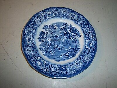 Liberty Blue Historic Colonial Scene Plate Staffordshire Ironstone