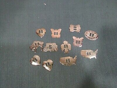 12 Metal Western Bolo Slotted Concho Slides Scarf Belt Buckles