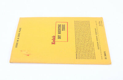 KODAK DRY MOUNTING TISSUE, 5X7, 25 SHEETS, SOLD FOR DISPLAY/cks/198238