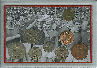 Manchester United Man Utd Vintage F.A Cup Final Winners Coin Retro Gift Set 1963