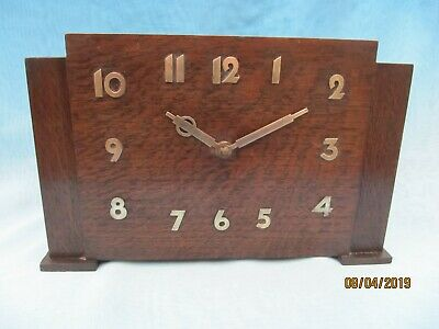 Vintage ~ 'Temco' Art Deco Electric Mantle Clock