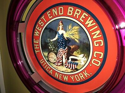 ***West End Utica New York Beer Bar Advertising Man Cave Neon Wall Sign