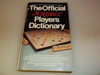 The Official SCRABBLE Players Dictionary 1979