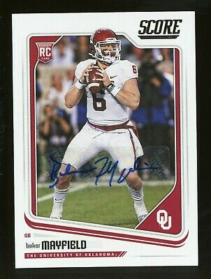 77552b0bc27 Baker Mayfield 2018 Score Auto Autograph RC Rookie Card Cleveland Browns SP