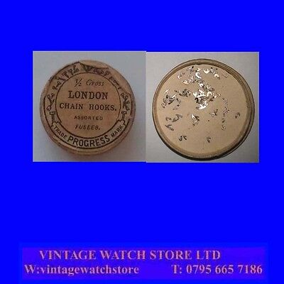 English Verge Fusee 19th Century Pocket Watch SINGLE Chain Hook NOS