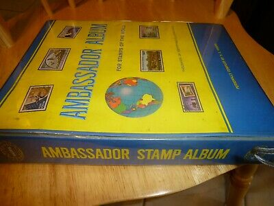 AMBASSADOR ALBUM FOR Stamps of The World Stamp Book w/some stamps