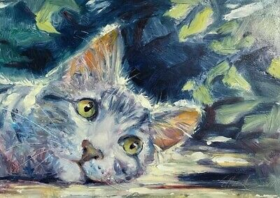 Original Painting Kitten Cat Cats Artwork oil art originals direct from artist