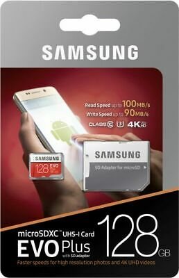 New/Sealed Samsung 128GB EVO Plus Micro SD Memory Card SDXC Class 10 + Adapter