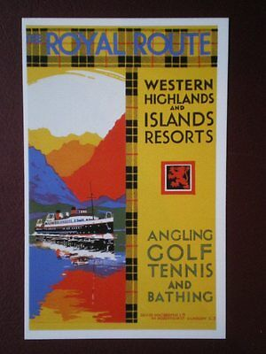 Postcard Advert The Royal Route - Western Highlands & Island Resorts