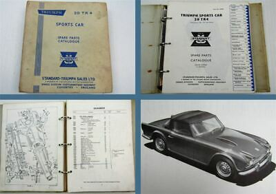 Triumph TR4 Sports Car Parts List Parts Catalogue Ersatzteilliste 1961-66