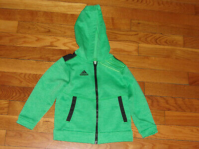 Adidas Hooded Athletic Track Jacket Girls Toddler 2T Excellent Condition