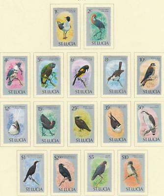 St. Lucia Kkmk22 # 387-402 Vf-Mh 1976 Indigenous Birds Issues Cat Value $40