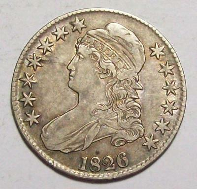 1826 Early CAPPED BUST HALF DOLLAR  Nice XF  #15B72