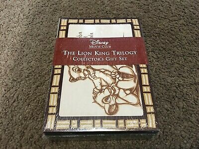 Disney Movie Club The Lion King Trilogy Dvd Collector's Gift Set Brand New Simba