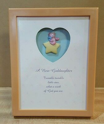 Goddaughter Framed Verse, Twinkle Little Star by Enesco