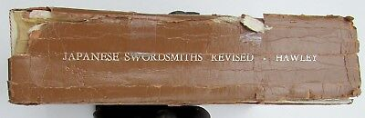 JAPANESE SWORDSMITHS REVISED 1981 REFERENCE BOOK by HAWLEY