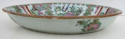 """ANTIQUE CHINESE OVAL PORCELAIN PLATE hand painted 9 by 11"""""""