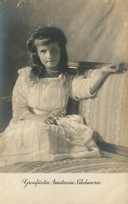 Russian Grand Duchess Anastasia Antique Real Photo Postcard Rppc