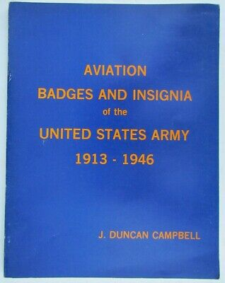 AVIATION BADGES INSIGNIA of US ARMY 1913-1946 ILLUSTRATED REFERENCE BOOK