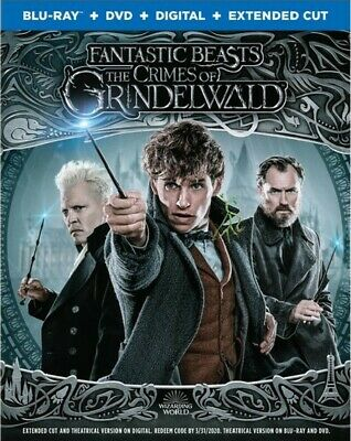 BLU-RAY Fantastic Beasts: The Crimes of Grindelwald (Blu-Ray/DVD) NEW