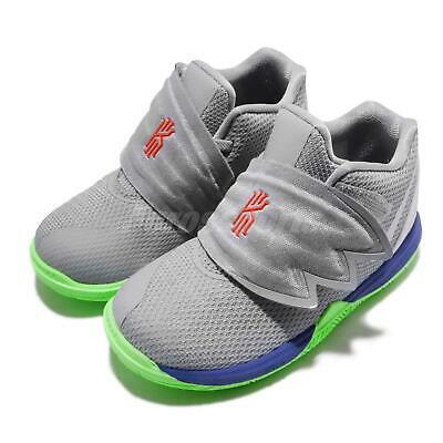 competitive price ad076 33fc6 Nike Kyrie 5 TD V Irving Grey Blue Lime Blast TD Toddler Infant Shoes  AQ2459-