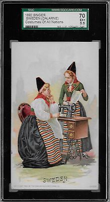Sweden (Dalarne) 1892 Singer Costumes of all Nations SGC 70 SGC FINEST KNOWN