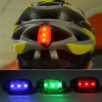 Mini 3 LED Light Up Safety Clip on Running Jogging Night Bike Bicycle Rear Light