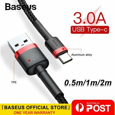 Baseus Type-C Quick Charge QC3.0 USB C Charging Data Cord for Samsung Huawei