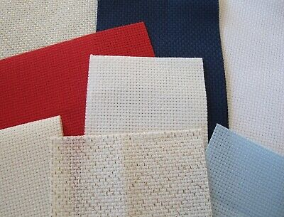 AIDA OFFCUTS Zweigart 14 count aida offcuts ideal for bookmarks and gift tags