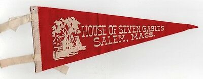 Vintage House Of Seven Gables Salem Massachusetts Banderín Nathaniel Hawthorne