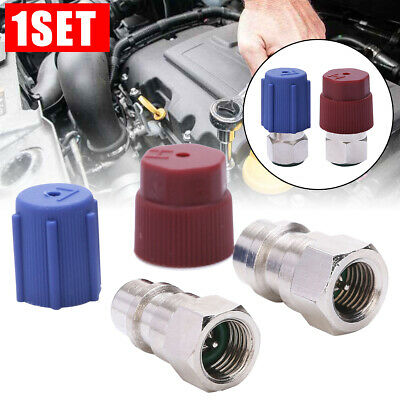 A/C R-12 to R-134a Retrofit Conversion Adapter Fitting 1/4 SAE Valves Kits