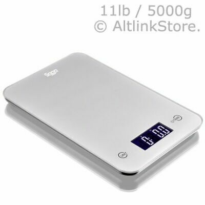 SAGA Digital Kitchen Scale Touch Glass 11lb 5kg / 5000g X 1g oz Diet Food