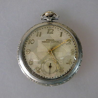 Art Deco Herrentaschenuhr Prima Homis Watch um/ab 1928 (44536)