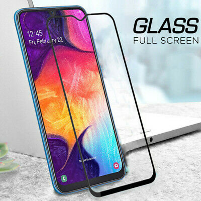 For Samsung Galaxy A30 A50 A40 70 M30 Full Cover Tempered Glass Screen Protector