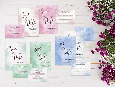 RSVP /& Info//Poem Set Personalised Wedding Invitation PacksDay//Evening Invite