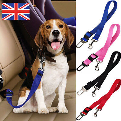 Pet Dog Car Vehicle Travel Safety Seat Belts Adjust Harness Restraint Clip UK