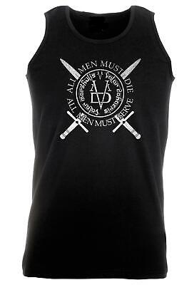 Unisex Black Valar Morghulis Dohaeris Vest GoT All Men Serve Die High Valyrian