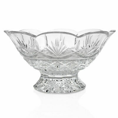 "Waterford Crystal Newgrange 9.5"" Fan Cut Footed Bowl (New Damaged Box)"