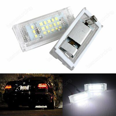 2x BMW E46 Canbus Error Free License Number Plate Light 3528 SMD LED Lamp Bulbs