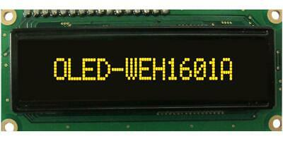 OLED Display Module, 16x1, Yellow - WINSTAR