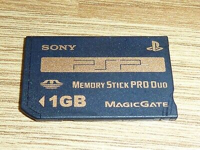 1Gb Official Genuine Sony Playstation Psp Memory Stick Pro Duo Card Ms Duo 1 Gb