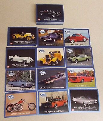 1992 DREAM MACHINES Ser. 2 CARD SET + WRAPPER MUSCLE CARS HOT RODS BIKES & MORE