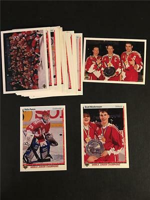 1990/91 Upper Deck Team Canada World Junior Champions Team Set Felix Potvin RC