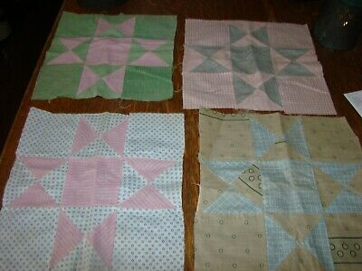 Antique Patch work pieces late 18th c.(1780)- Early 19th c. Quilting Cottons