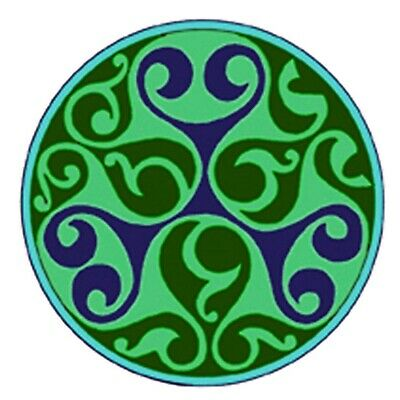 Celtic Medallion Mendala in Green and Blue Counted Cross Stitch Pattern