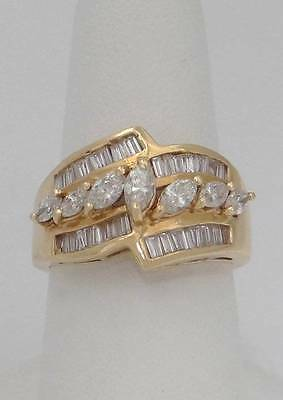 10K Gold .50 Ct Natural Citrine /& Diamant Band Ring Taille 6.75 Anneau Boîte